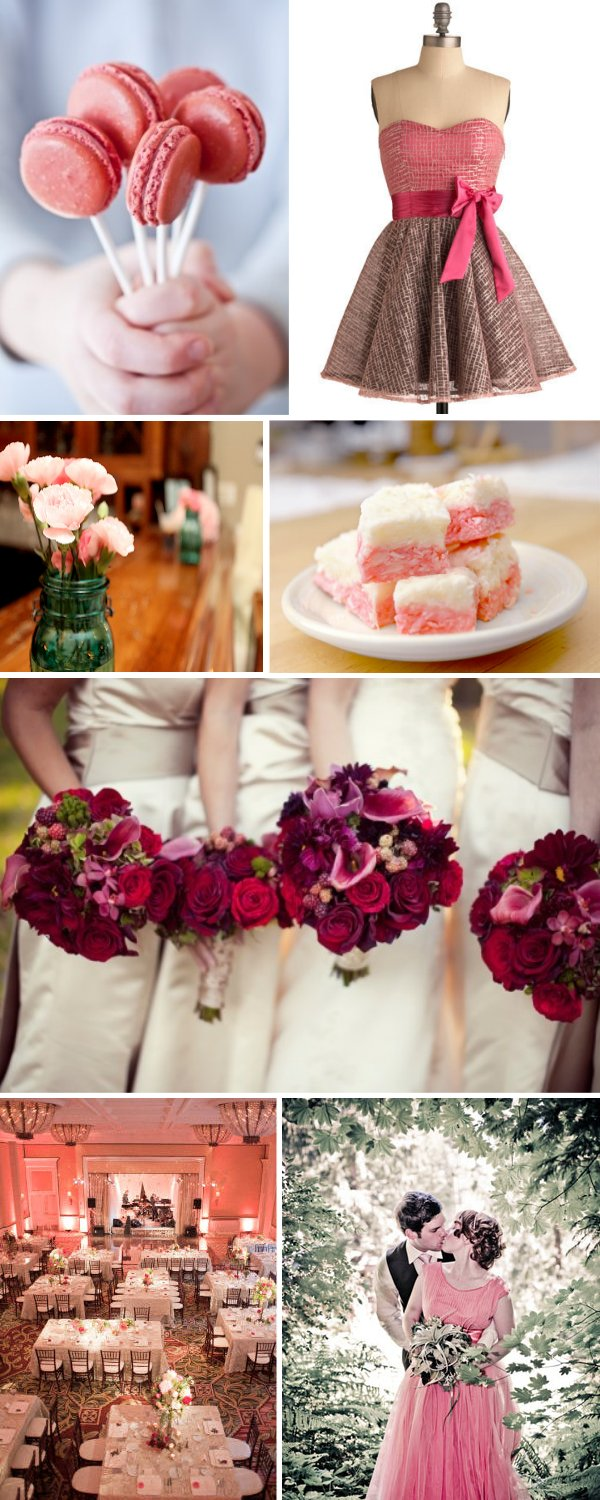 Lots of pink wedding ideas!