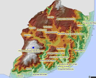 mapa topografico de lisboa De Lisboa: Qual é o sítio mais alto de Lisboa? mapa topografico de lisboa
