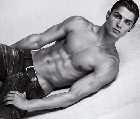 Cristiano Ronaldo for Armani underwear shirtless body
