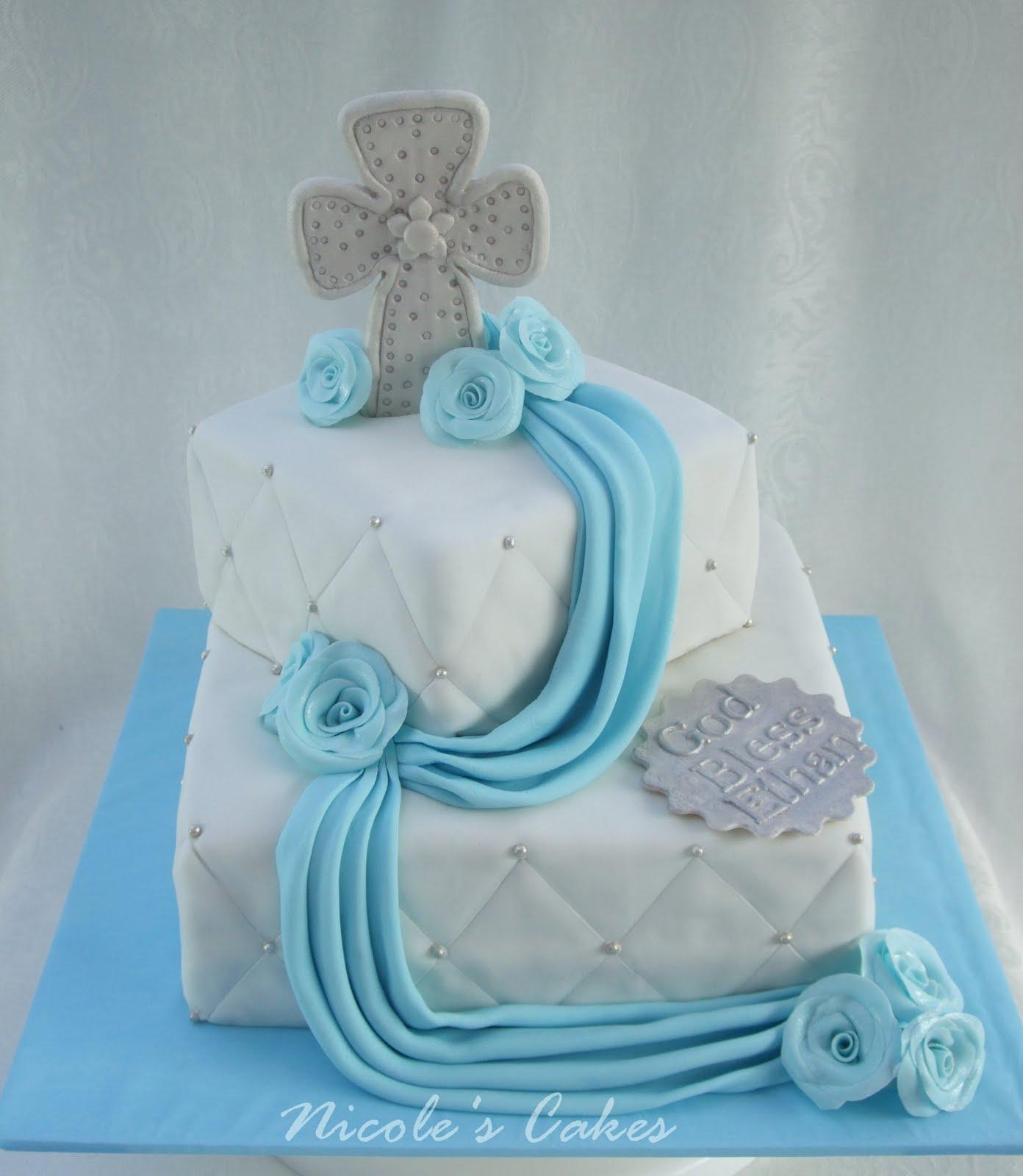 Baby Boy Baptism Cake Ideas