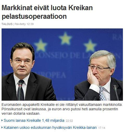 suomen kreikalle lainan määrä