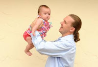 GETTING RESULTS - Shen Therapies' doctor of Chinese medicine Andrew Orr with four-month-old Siena Wright.