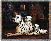 Dalmatian Blanket Throw