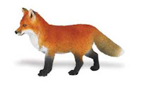red fox toy animal miniature replica