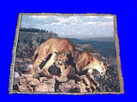 mountain lion blanket throw tapestry