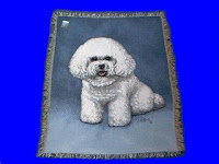 bichon frise blanket throw tapestry