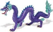 purple chinese dragon toy miniature