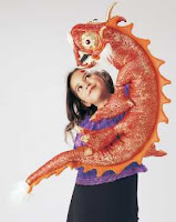 red chinese dragon puppet folkmanis