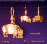 hippo earrings jewelry