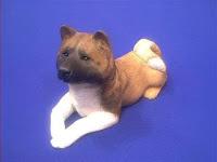 akita figurine sandicast