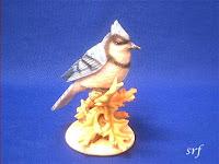 Blue Jay Bird Figurine Stone Critters