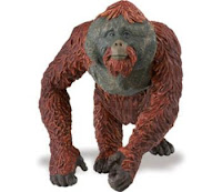 adult orangutan toy miniature