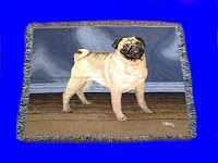 Pug Fawn Blanket Throw Tapestry USA