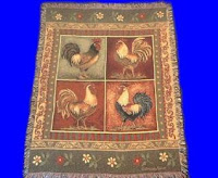 chicken rooster blanket throw tapestry