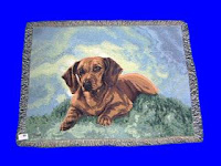 red dachshund blanket throw tapestry