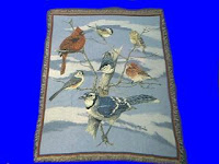 backyard bird blanket throw tapestry
