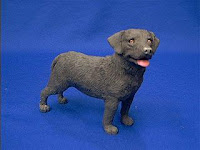 chocolate lab sandicast dog figurine