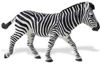 zebra animal figurine toy safari wildlife wonders