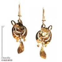 chinchilla earrings gold jewelry french curve