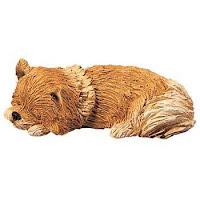 Pomeranian Figurine Sandicast Snoozer