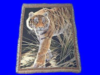 tiger blanket throw tapestry prowling