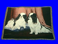 Japanese Chin Blanket Throw Tapestry