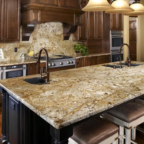 The Granite Gurus Slab Sunday Golden Crystal Granite