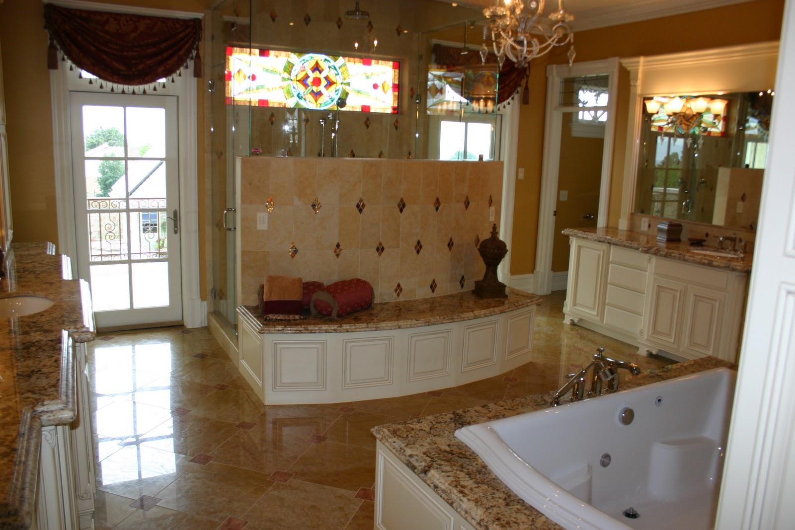 The Granite Gurus: Beautiful Master Bathroom With Golden