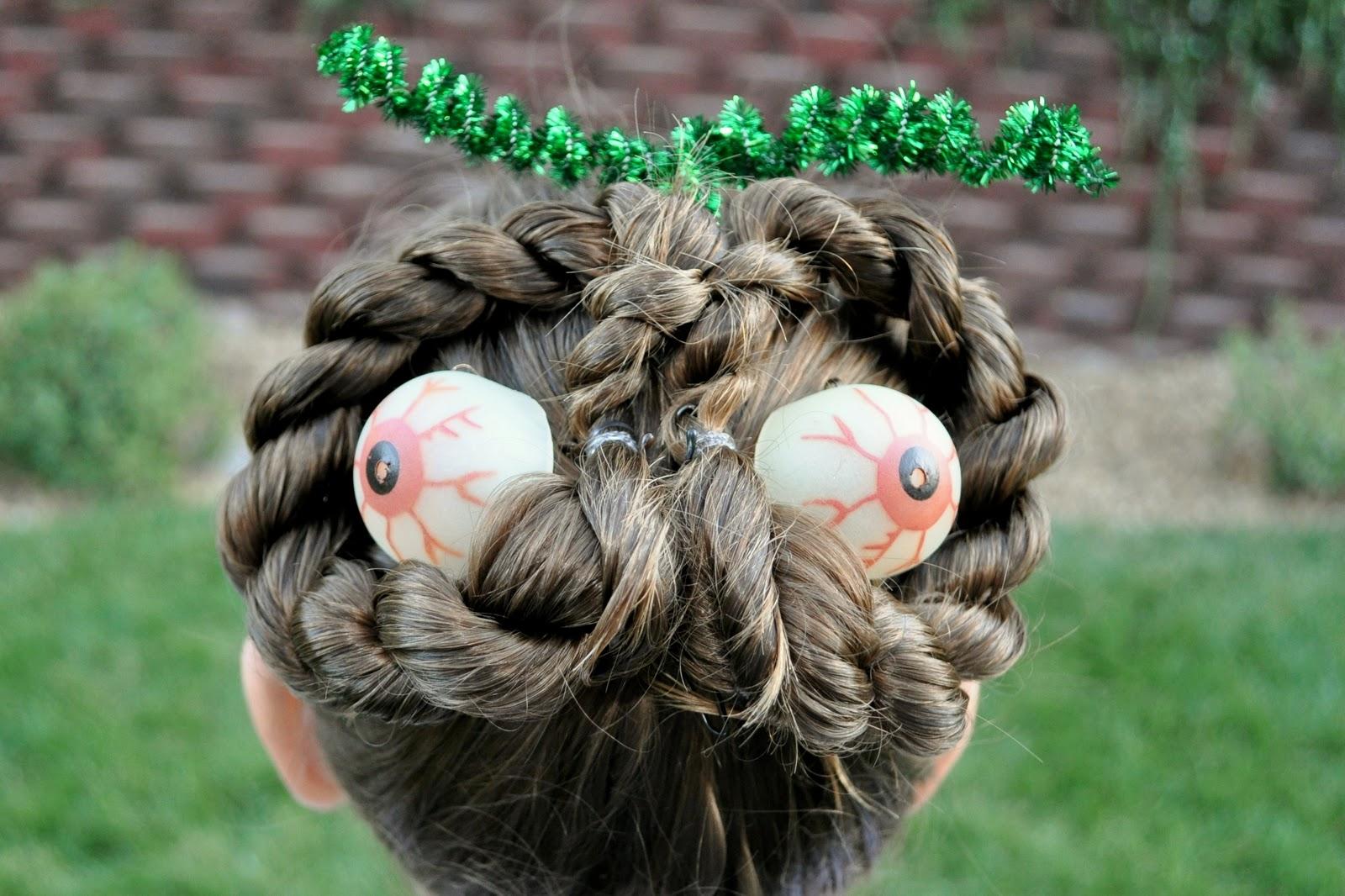 Halloween Hair Styles: Princess Piggies: Halloween Hairdos: Monster Eyes