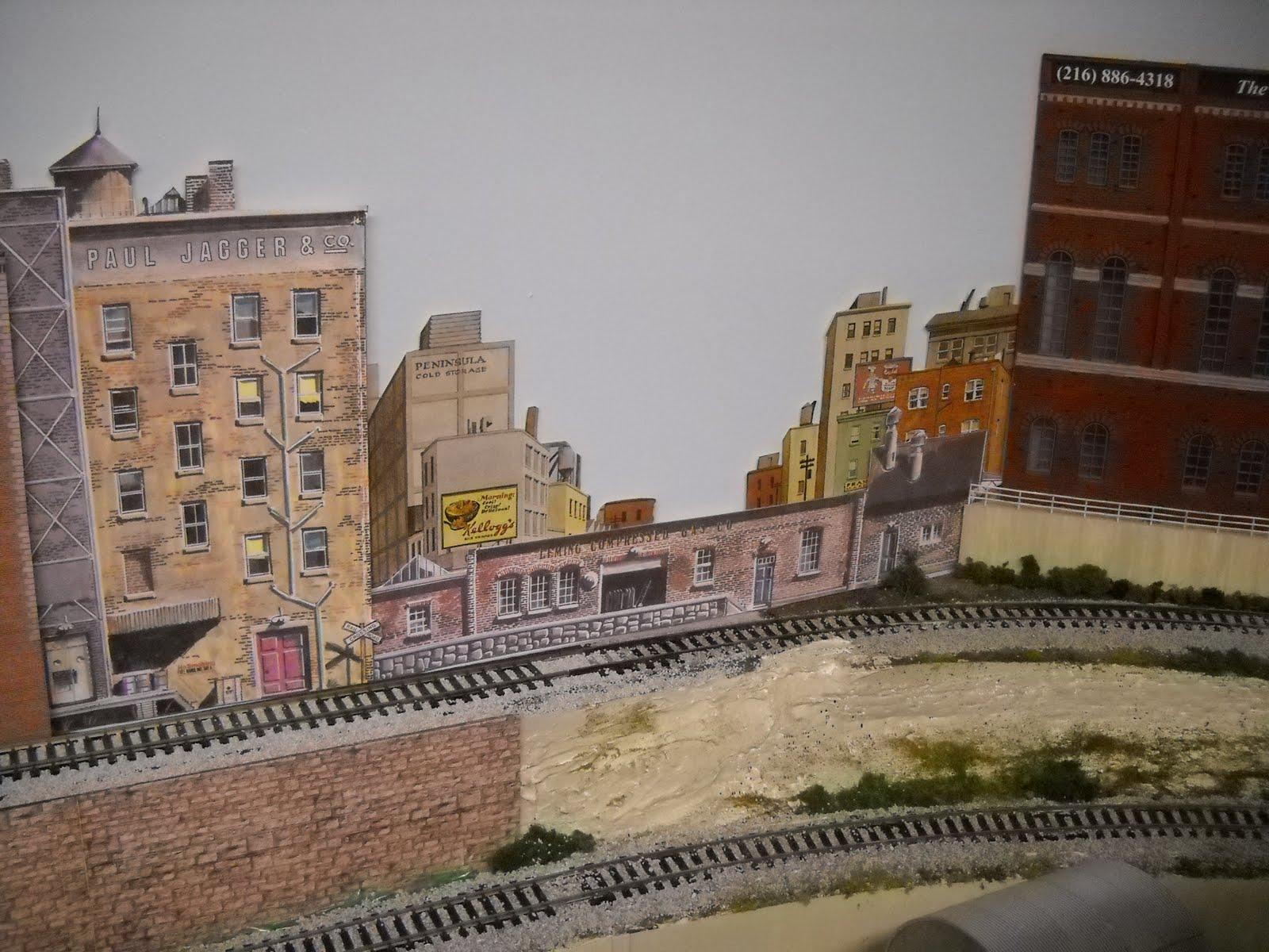 Small rails how to make ho scale backdrops - Model railroad backdrops ...