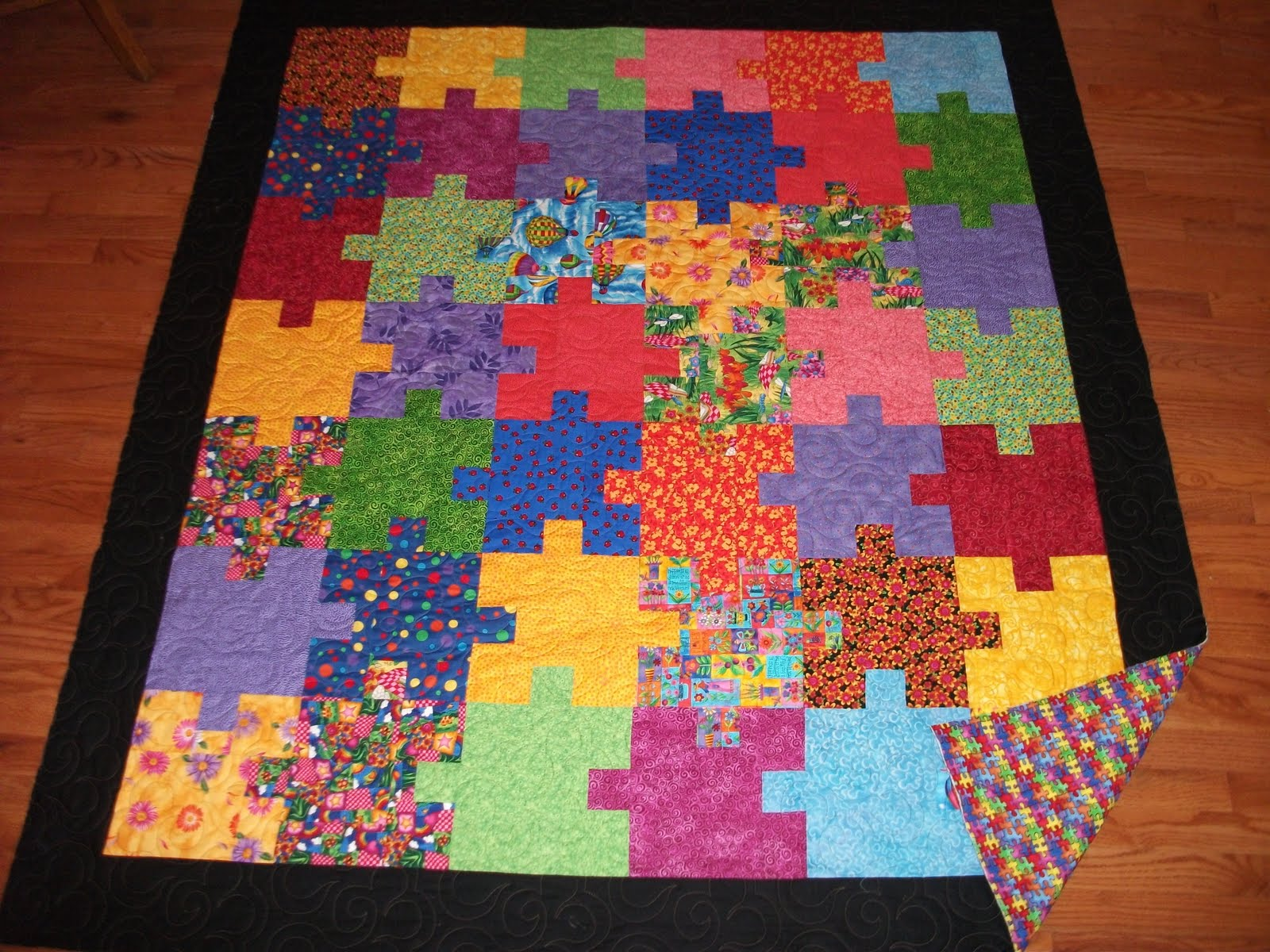 Around The Blocks Puzzle Quilt