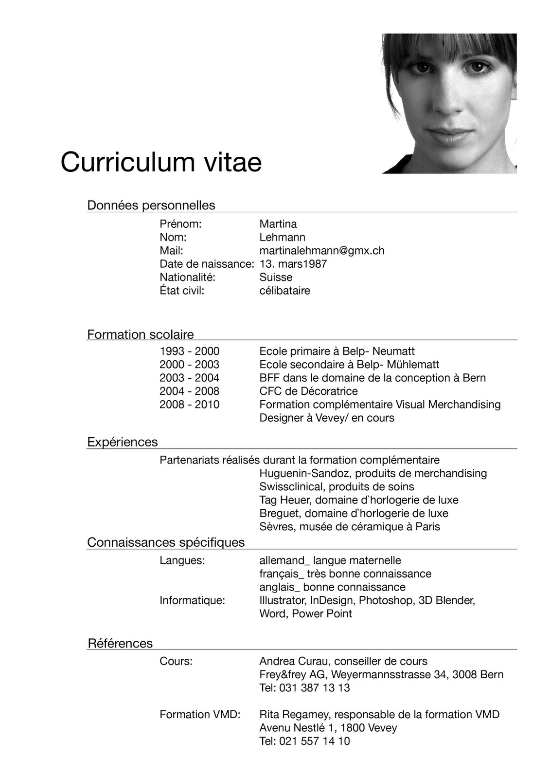 designer visual merchandising  cv