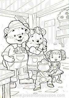 Ilustración Ricitos De Oro Toñito Avalos Ilustrador