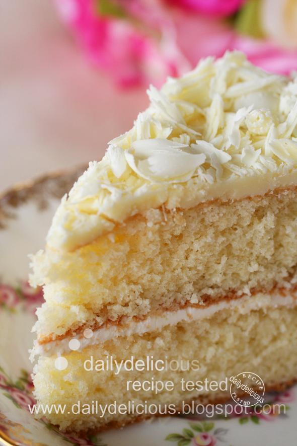 White Sugar Sponge Cake Recipe