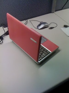 ASUS S6, pink leather, open