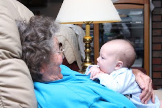 Mason and his great-grandmother