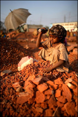 Girl Child Working