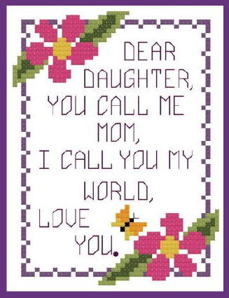 Veeandco Cross Stitch Designs Mothers Day Complimentary Charts
