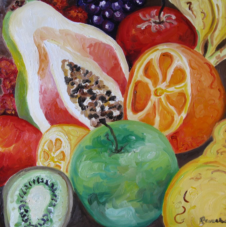 Raschel Larsen's Paintings: Food Art