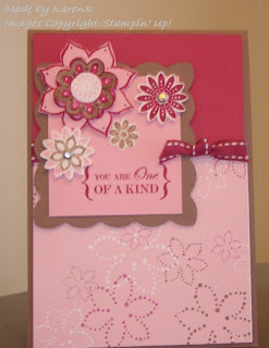 Stampin Up and One Of A Kind and Boho Blossoms Punch