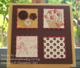 Stampin Up and A Flower For All Seasons