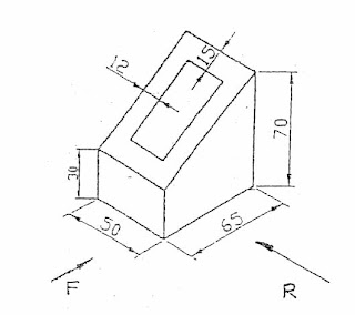Orthographic To Isometric Drawing Exercises