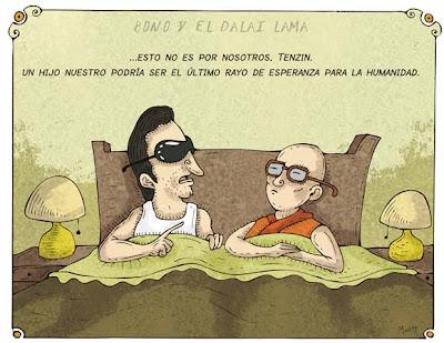 bono y el dalai lama