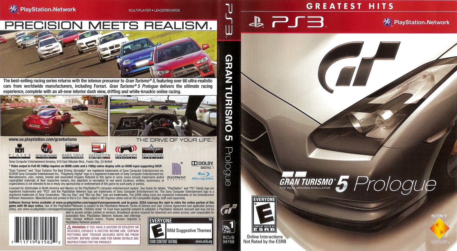 gran turismo 5 prologue greatest hits playstation ps3 precision meets reality 4948872960274 ebay. Black Bedroom Furniture Sets. Home Design Ideas