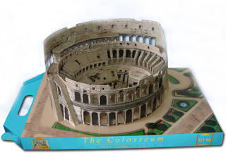 how to make the roman colosseum out of paper