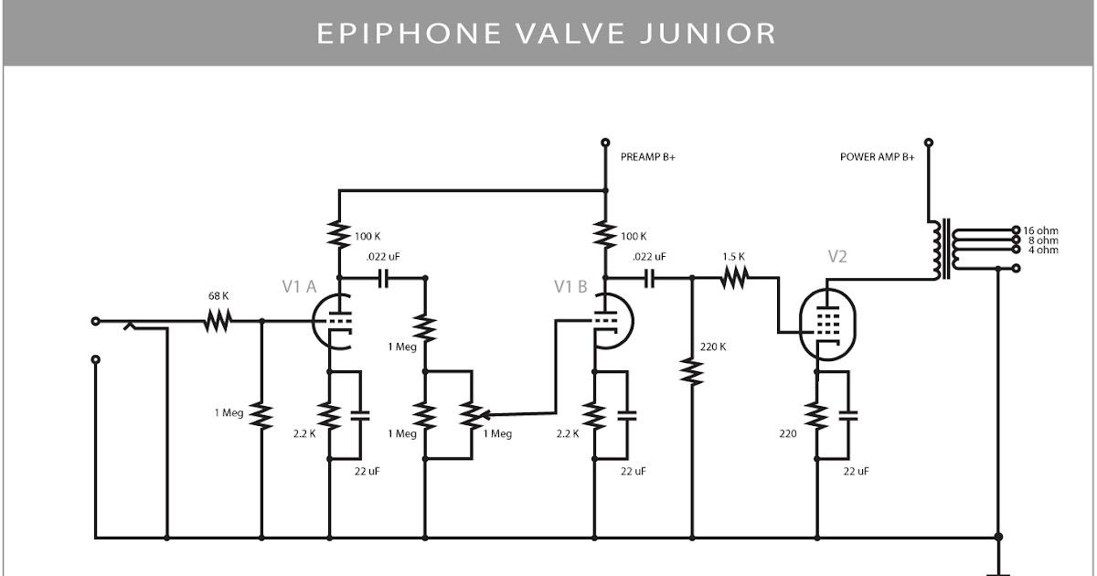 epiphone valve junior schematic