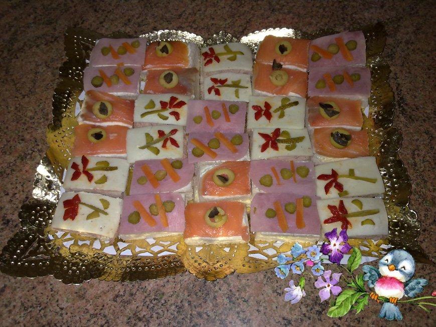 Cuaderno de rosa canapes para navidad - Como hacer un canape ...