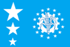 Fictional flag of Myanesia. This flag combines elements of <b>Myanmar</b>'s old flag and <b>Micronesia</b>'s current flag.