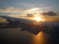 Momentos antes de aterrizar en tierras australianas