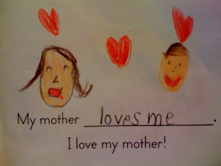 My mommy cooks  My mommy cleans  My mommy loves me  - The